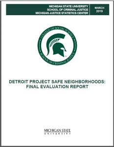 Cover of Detroit PSN Final Report March 2019