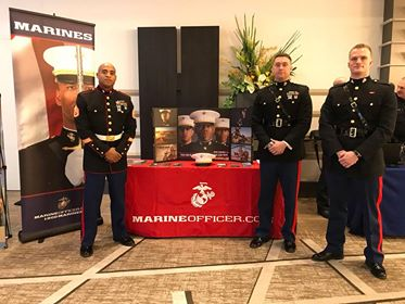 The United States Marines at the 2019 Career Fair